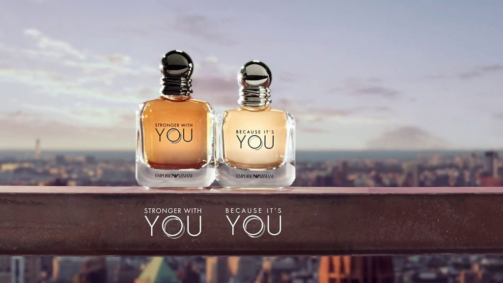 Armani Because it's YOU and Stronger with YOU • Scentertainer